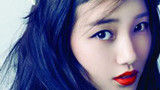 Youna 棕色眼妆 烈焰红唇