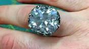 88元在旧货摊买了枚玻璃戒指 鉴定发现是价值650万的钻戒