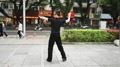 交谊舞快三教学,右转换左转的换步,女步动作