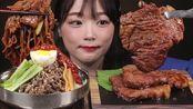 【aejeong】香辣凉面和腌排骨,吃起来有木桶味ae jeong(2019年7月26日19时21分)