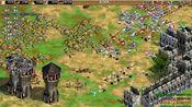 帝国时代黑森林3V3西班牙攻战了敌人领域了