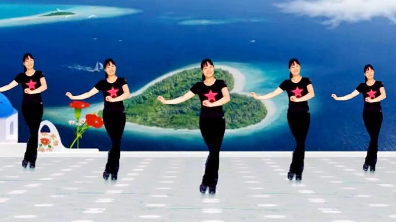 益馨广场舞《草原的月亮》原创单人水兵舞附教学