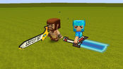 迷你世界:解锁最新武器,能量大宝剑对决激光刀