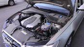 新一代奥迪A6L车外灯光、V6发动机舱实拍  FFYYN TV