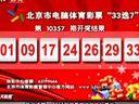 """北京市电脑体育彩票""""33选7""""第10357期开奖结果"""