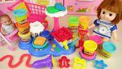 过家家玩具:宝宝玩面条机
