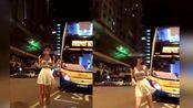 王思聪女友米咪在香港大街跳舞遭炮轰,发文致歉评论太意外!