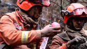 消防员救火现场吃苹果,只有一起上过战场共生死的兄弟,才明白这样的感情