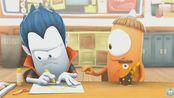 妖怪学院趣味动漫:学生时期同桌给你画的三八线是这样的吗?