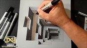 3D立体画教程,如何画一个3D立体的凹地
