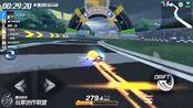 跑跑卡丁车:经典地图1分53秒,主播冷青冠军时刻