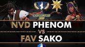 【街霸5】NVD Phenom(内卡利) vs FAV sako(麦奈特) Capcom Cup 2019 胜者组首轮