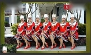 三亚美舞团《我家在苗寨》原创附教学 三亚冬梅作品