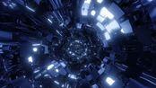 f26 2K高清画质震撼银色3D金属碎片空间穿梭动感爵士舞街舞灯光秀T台走秀迷幻开场热血街舞团视觉学校晚会公司年会大屏幕LED背景视频素材