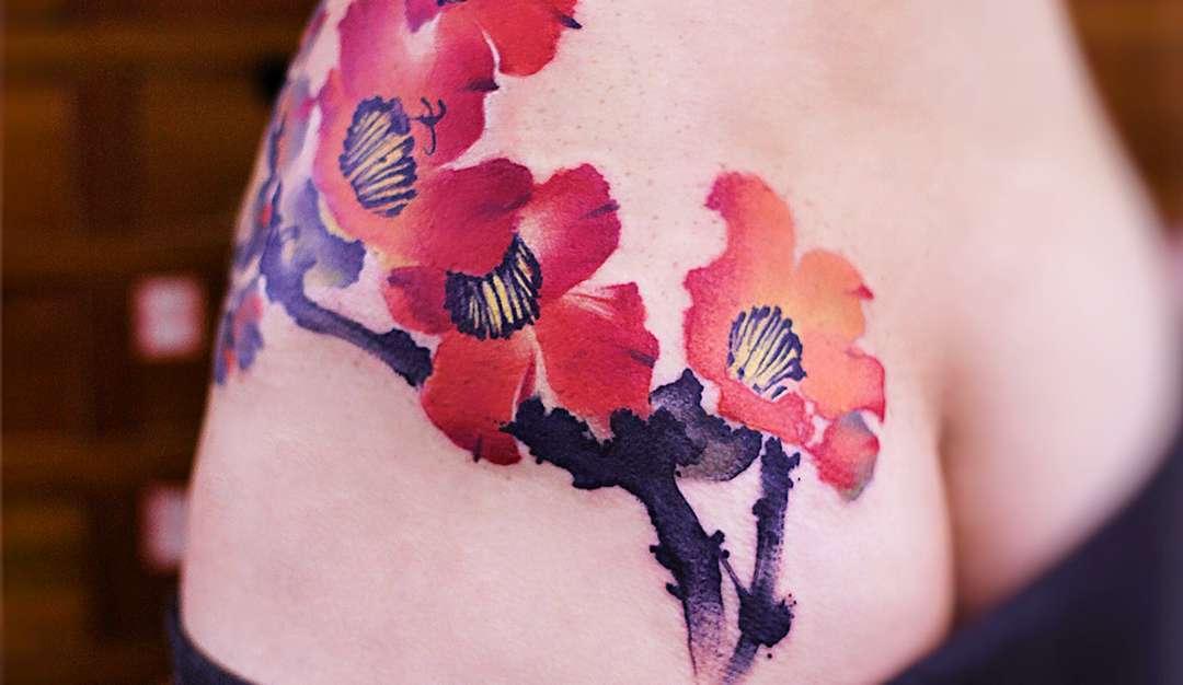 水墨纹身:肉体上的中国风