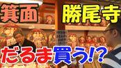今年的运气会开运!?中国油管up主sho买大阪箕面的特产品 胜运达摩!