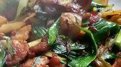 食疗的菜蒜苗回锅肉