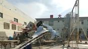 天津北洋园大型不锈钢雕塑制作进行中