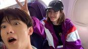 杨洋飞机上偶遇王丽坤,玩自拍大呼神仙姐姐!