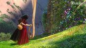 魔发奇缘:公主把金色长发扔下来,女巫抓住头发就上到了高塔里