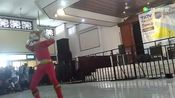 百兽战队牙吠连者牙吠红,现场cosplay表演
