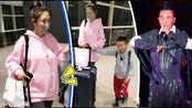 应采儿承认怀二胎后带儿子返港,自己推大行李箱不见陈小春