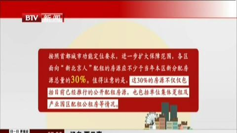 北京公租房不再全市摇号 新北京人配租房源不低于30%