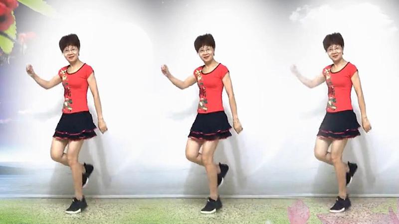澄海春风健身队《月儿像柠檬》原创步子舞32步