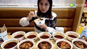 中国大胃王密子君一个人吃了一桌子的棒棒鸡,太能吃了