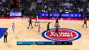 【原声回放】NBA季前赛:活塞vs魔术 第3节 庄神发力制霸内线