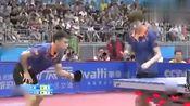 全运会乒乓球混双决赛,郝帅王艺迪VS于子洋王曼昱,剪切第一局