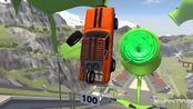 哈弗h6开足马力飞跃冲入绿色漩涡,画面够酸爽