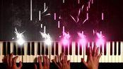 情侣钢琴四手联弹《D大调卡农》,这才是卡农打开的正确方式