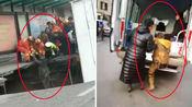 青海西宁路面塌陷致2人失踪13人受伤 伤者获救画面曝光一男孩走上救护车