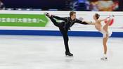 花样滑冰:整套动作非常完美,私底下俩人不少练习吧!
