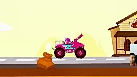 闪电赛车第4期:大卡车、炮弹车和工程车★小汽车玩具游戏