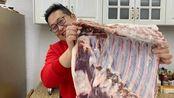"""944买16斤""""黑猪肉""""做一盆东坡肉,色泽红亮,肥而不腻,过瘾"""