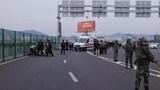 深圳机场发生重大交通事故的现场监控视频