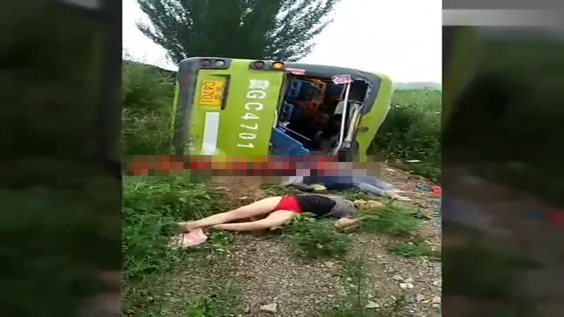 独家视频 河北 109 国道发生交通事故 已致10死