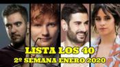 [Los 40]西语 | 西班牙Los 40 音乐排行榜(2020年1月第2周)#Listas Música