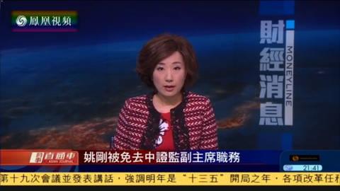 姚刚被免去中国证监会副主席职务