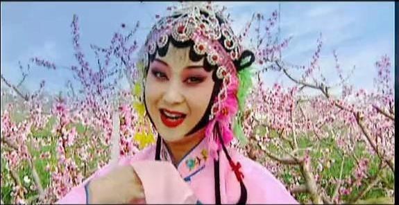 秦腔女神任小蕾的三月桃花