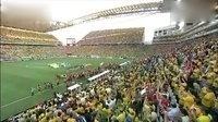 主场球迷高唱巴西国歌  大卫·路易斯热泪盈眶 高清